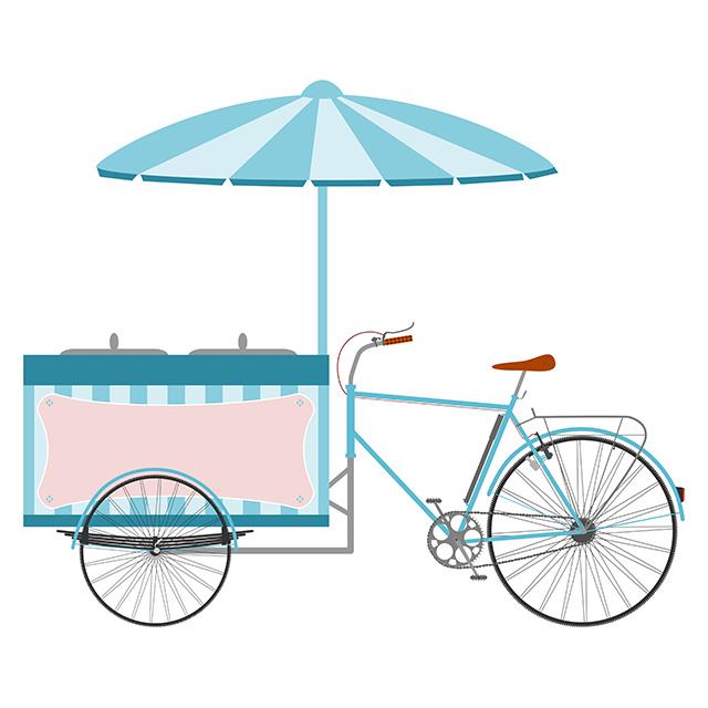 Verteilung mit Icebox-Bike